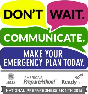 2016 National Preparedness Month Logo
